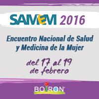SAMEM 2016. Encuentro Nacional de Salud y Medicina de la Mujer.
