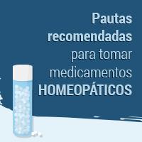 Pautas recomendadas para tomar medicamentos homeopáticos