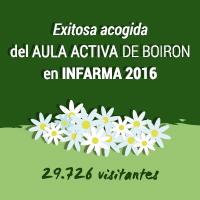 Exitosa acogida del aula activa de BOIRON en INFARMA 2016