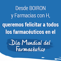 Desde BOIRON y Farmacias con H, queremos felicitar a todos los farmacéuticos en el Día Mundial del Farmacéutico.