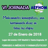 VI Jornada AEFHOM sobre homeopatía en la farmacia