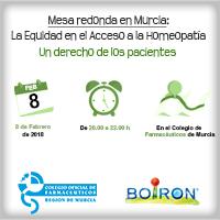 Mesa redonda en Murcia sobre la Equidad en el Acceso a la Homeopatía