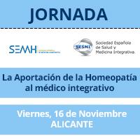 La Sociedad Española de Medicina Homeopática (SEMH) junto con la Sociedad Española de Salud y Medicina Integrativa (SESMI) organizan una jornada Precongresual SESMI 2018