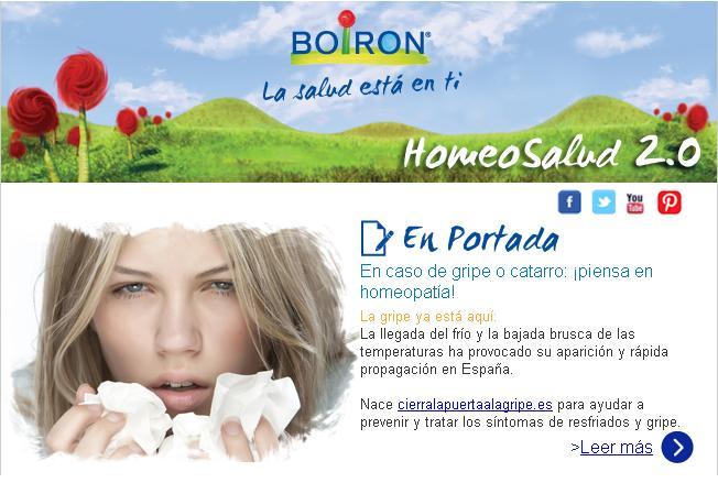 Newsletter Actualidad Boiron. Marzo 2013