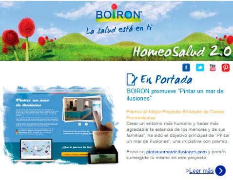 Newsletter Actualidad BOIRON. Abril 2013
