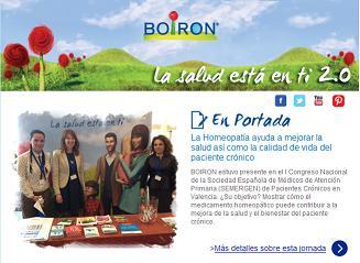 Newsletter Actualidad BOIRON. Mayo 2013