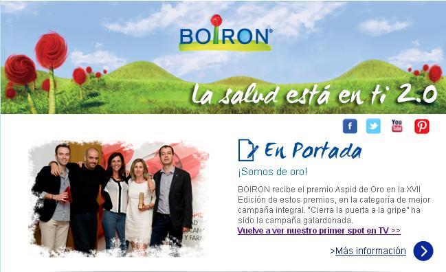 Newsletter Actualidad BOIRON. Junio 2013