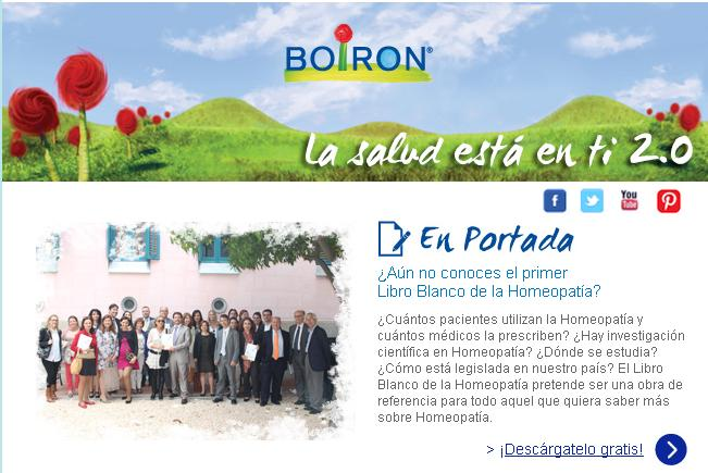 Newsletter Actualidad BOIRON. Septiembre 2013